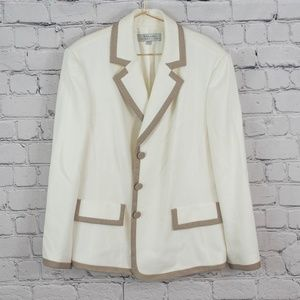 Tahari cream and taupe blazer